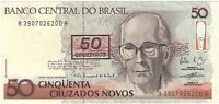 Brazil 50 Cruzeiros Banknote Crisp uncirculated 1990 Genuine (26)