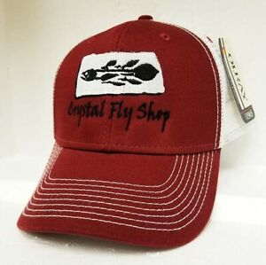 NEW OURAY CUSTOM CRYSTAL FLY SHOP TRUCKER HAT IN MAROON / WHITE + FREE US SHIP