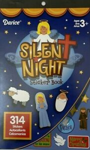 Darice Christmas Silent Night Sticker Book 314 Stickers 9.5x6in Angels Peace
