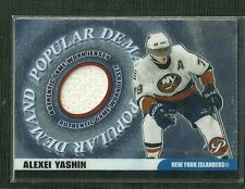 ALEXEI YASHIN 03-04 TOPPS PRISTINE POPULAR DEMAND GAME WORN JERSEY ISLANDERS