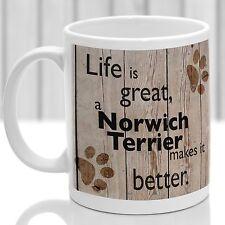 Terrier de Norwich, Norwich Terrier perro Taza de perros Regalo, Ideal Regalo Para Perro Amante