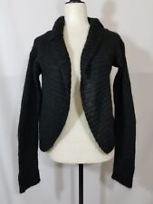 Free People Black Mohair Open Cardigan Sweater Size Medium