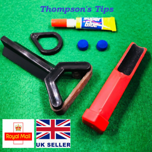 Snooker Cue Re-Tipping Kit - Sander, Clamp, Glue, Tips