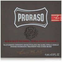 Proraso Intense Nourishing Treatment for Course Beards - 4 Piece .6 oz each