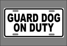 Metal Guard Dog On Duty Sign New Gate Fence Warning Plaque