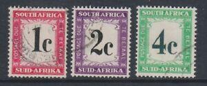 South Africa - 1961, 1c - 4c Postage Dues - F/U - SG D45/7