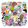 100Pcs kawaii Vinyl Skateboard Stickers bomb Luggage Decals Sticker Plsei