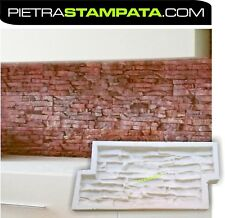 matrice calco in gomma gesso cemento stampo per finta pietra VENEER STONE MOLD