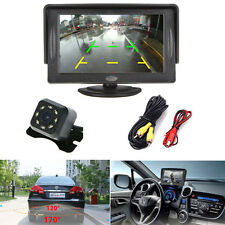 "Car 4.3"" TFT LCD Monitor + Wired Night Vision 7 LED Rear View Backup Camera"