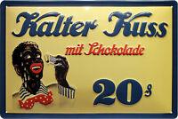 KALTER beso Con Chocolate Hielo LETRERO DE METAL EN RELIEVE 20 x 30cm