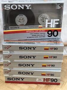 Sony HF90 Cassette Tapes Set Of 6 NEW