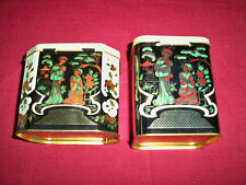 VINTAGE ~ 2 ORIENTAL HINGED TINS!    EXCELLENT COND!     BUY IT NOW!   SALE!