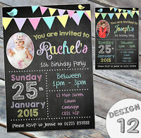 10 Personalised Birthday Party Invitations Kids Joint Childrens Printed Invites