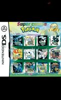 Pokemon 23 in 1 Game Card Nintendo DS DSI DS LITE 2DS 3DS Free Ship USA SELLER