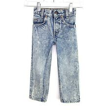 Little LEVIS slim 4 orange tab 512s Vtg 80s acid wash hi waist jeans Boys/girls