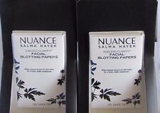 2 Lot Nuance Salma Hayek  Facial Blotting Papers Ageless Clarity 50 Sheets!