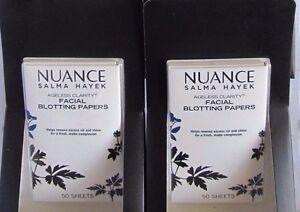 2 Lot Nuance Salma Hayek  Facial Blotting Papers Ageless Clarity 50 Sheets!