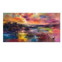 Leinwand-Druck Malerei Handgemalt Öl Gemälde Abstrakt Art Dekor