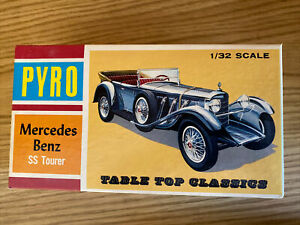 Vintage PYRO C350-100 1/32 scale 1928 Mercedes Benz SS Touring car Complete