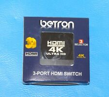 Betron HDMI 3 -Port Switch for HDTV, PS3, Xbox One, 360, Bluray/DVD Player etc.