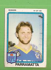1981 PARRAMATTA EELS  SCANLENS RUGBY LEAGUE CARD  #91  ERIC GROTHE
