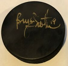 BRIAN TROTTIER SIGNED AUTOGRAPHED HOCKEY PUCK