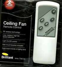 Brilliant 3 Speed Ceiling Fan And Light Remote 17697/05 Brand New AU Seller