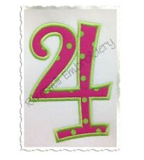 Curlz Applique Numbers Machine Embroidery Designs