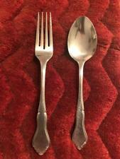 Rogers Co Stainless Korea Majesty, 1 DINNER FORK & 1 SOUP SPOON