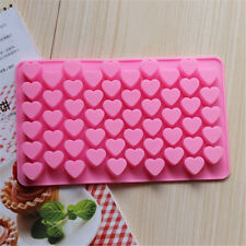 55 Hole Silicone Mold Heart Shape Moulds Cake Cookie Decorating Tools Soap diy