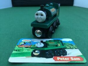 Thomas and Friends Wooden Railway - Peter Sam with Collector's Card - VGC Used