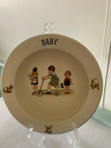 Made in  Czecho - slovakia 1930's BABY Vintage Cereal Bowl Nursery Rhyme