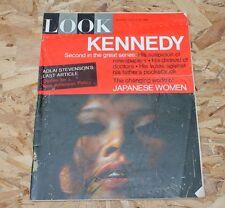 Vintage LOOK Magazine JFK John F Kennedy August 24 1965 President Photos Ads