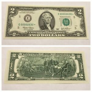VINTAGE UNCIRCULATED RARE 2003 STAR $2 RICHMOND TWO DOLLAR FEDERAL RESERVE NOTE