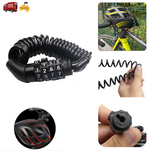 Bike Bicycle Lock 4 Digit Combination Code Steel Cable Security Password Cycling