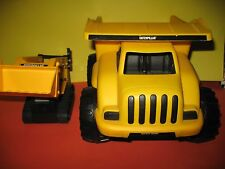 """""""2"""" caterpillar plastic trucks-dump and backhoe- new- toy state"""