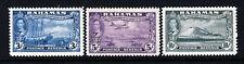 BAHAMAS 1948 Eleuthera Settlement Tercentenary High Values SG 190 to SG 192 MINT