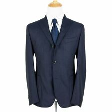 NWT Boglioli Navy Wool Textured Unlined Dual Vents Unstructured 2Btn Jacket 46R