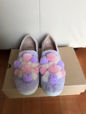 UGG Ricci Pom Pom Lavender Fog Slip On Shoes Womens Size 8.5,new in box