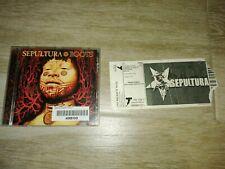 SEPULTURA ROOTS CD + TICKET ENTRADA MÁLAGA 2007
