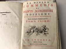 Dante Alighieri - Antica Divina Commedia - Venezia 1760