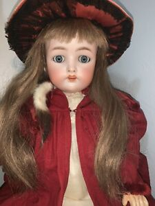 """Beautiful Antique German  Simon and Halbig K&R 58 Doll - 24""""   W on front rim"""