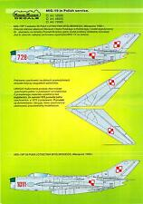 Model Maker Decals 1/48 MIKOYAN MiG-19 Fighter in POLISH SERVICE