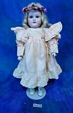 Antique 1890 German Bisque Rare Sm W & C Weifel Co MOA Doll Kidolene Body DA38