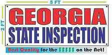 GEORGIA STATE INSPECTION Banner Sign NEW LARGER SIZE Best Quality for the $$