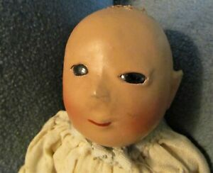 Antique Asian Baby Doll -Composition Head - rag body