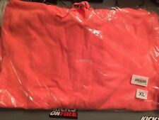 Supreme Trademark Hooded Sweatshirt Fluorescent Pink Sz XL Hoodie FW18 box logo