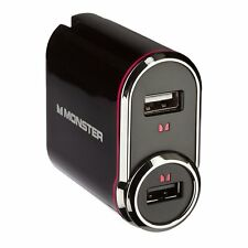 Monster Cable USB PowerPack 2-in-1 Charger With Car Adapter 050644642456