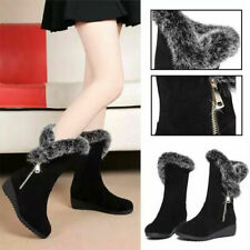 Winter Women Mid Boots Ladies Fur-lined Booties Sneakers Casual Shoes Outdoor