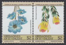 St. Vincent ARTIST SERIES TOOMBS FLOWER SERIES $2 PAIR INVERTED CENTER ERROR
